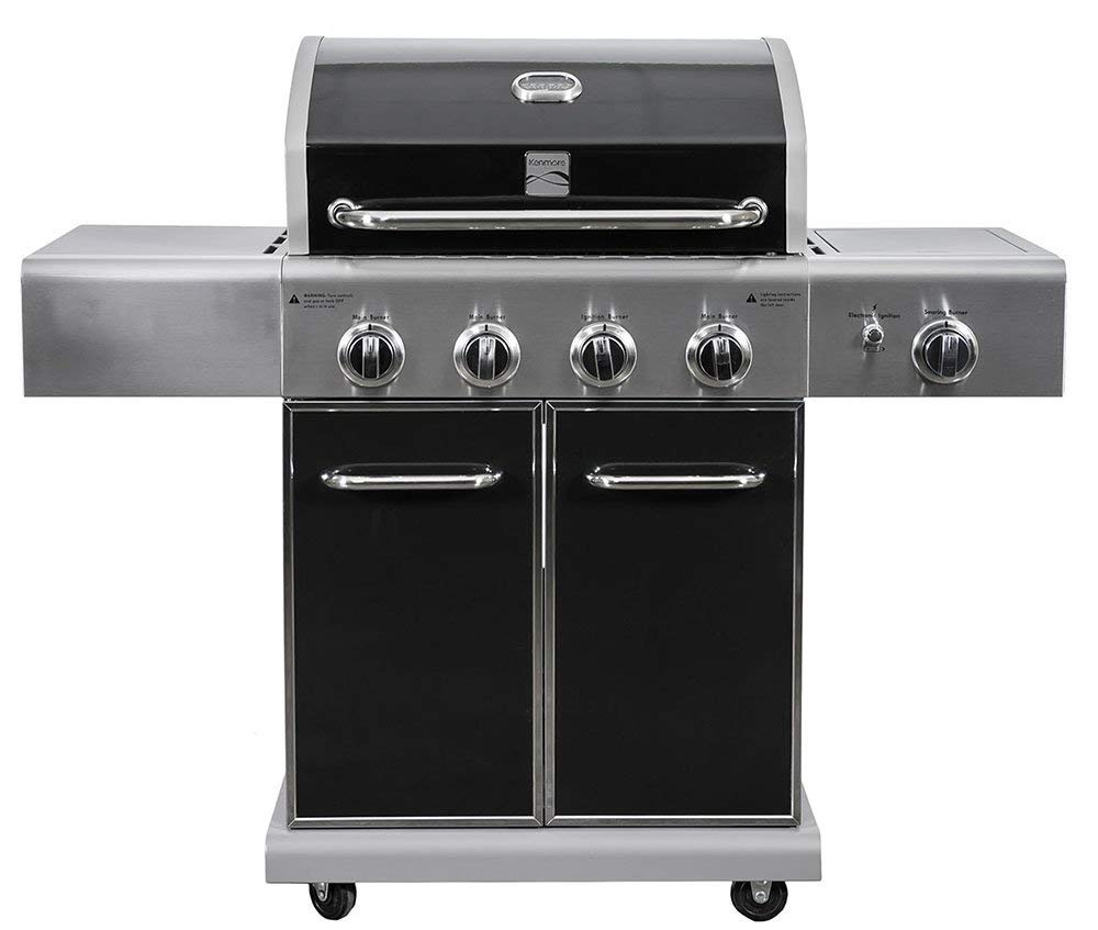Kenmore PG-40409S0LB 4 Burner Grill Plus Searing Burner Review